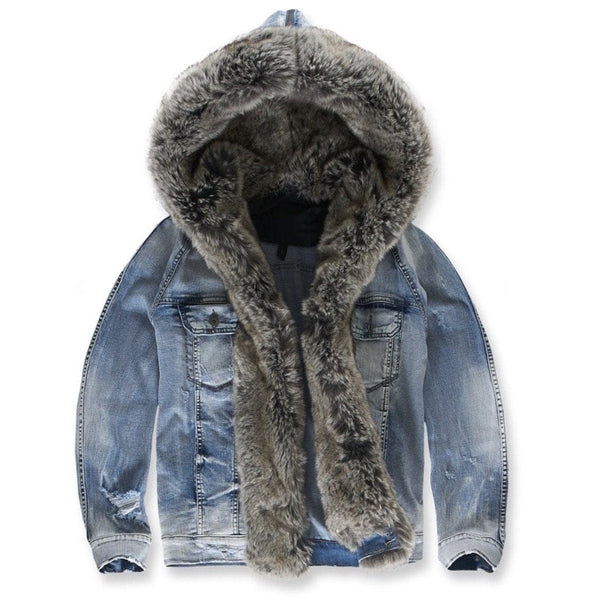 Jordan Craig Durango Hooded Denim Jacket (Silver Bullet)
