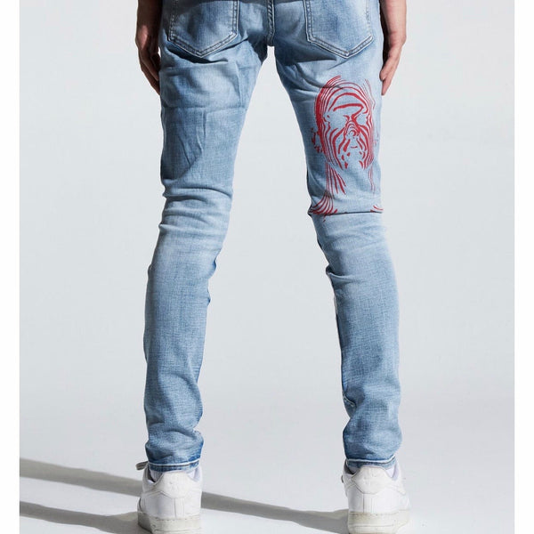 Crysp Atlantic Denim Jeans (Indigo Written) CRYSPFA120-120