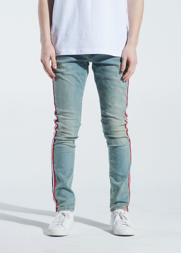 Crysp Jean Atlantic Striped Sand Wash