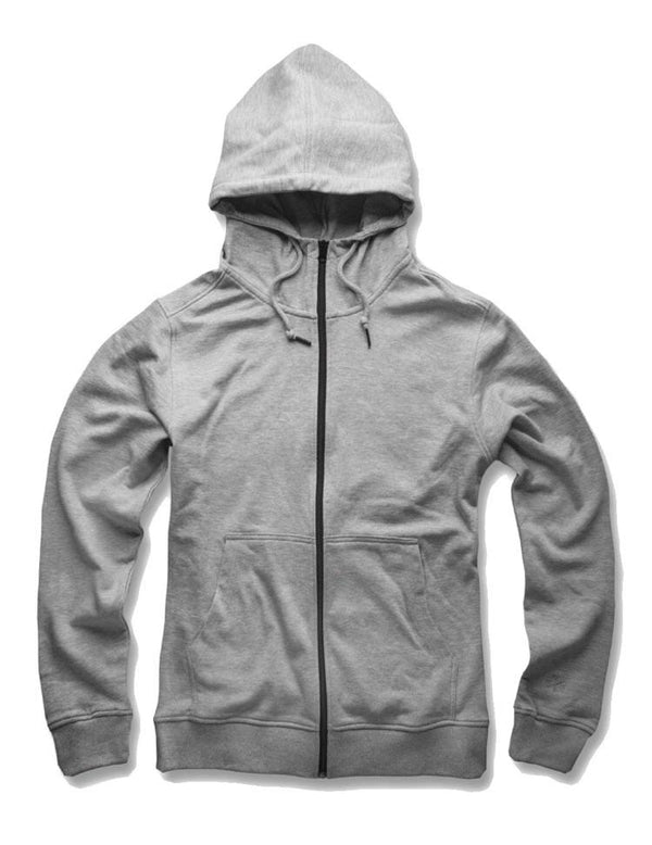 JORDAN CRAIG FRENCH TERRY ZIP UP HOODIE - H/GREY
