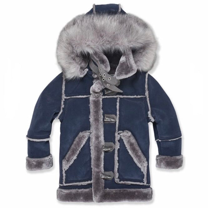 Kids Jordan Craig Denali Shearling Jacket (Midnight Smoke) 91445K