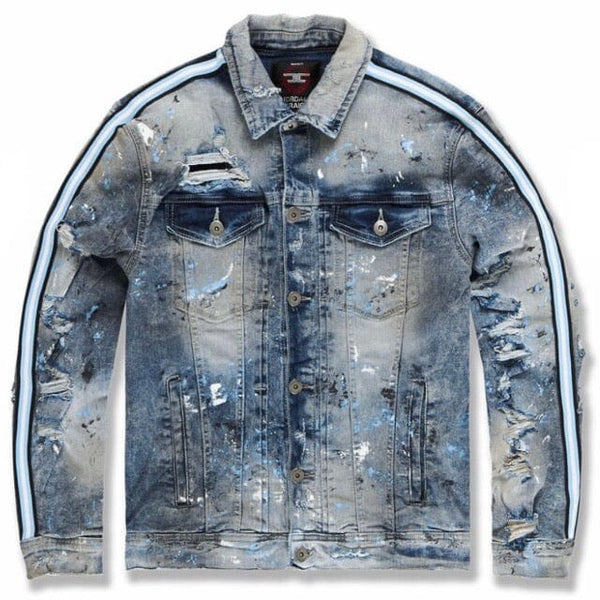 Jordan Craig Sparta Striped Denim Jacket (University Blue) 91526