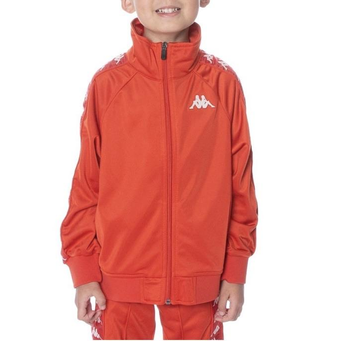 Kids Kappa Banda Anniston Track Jacket Red/ White