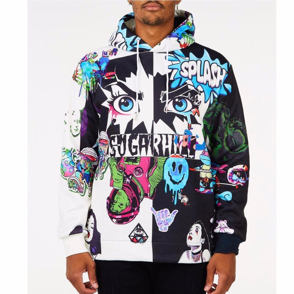 Sugar Hill Split Psycho Hoodie (Black/White) SH-FALL20-05