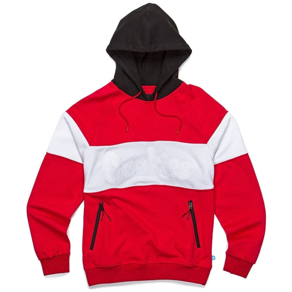 Cookies Hoody W/ Double Twill Applique & Rubber Logo Patch (Red) 1544H4075