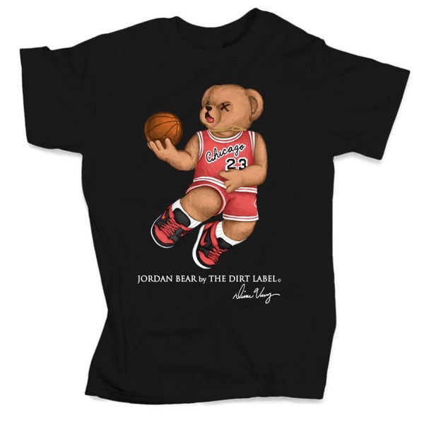 Dirt Label Jordan Bear T Shirt (Black)