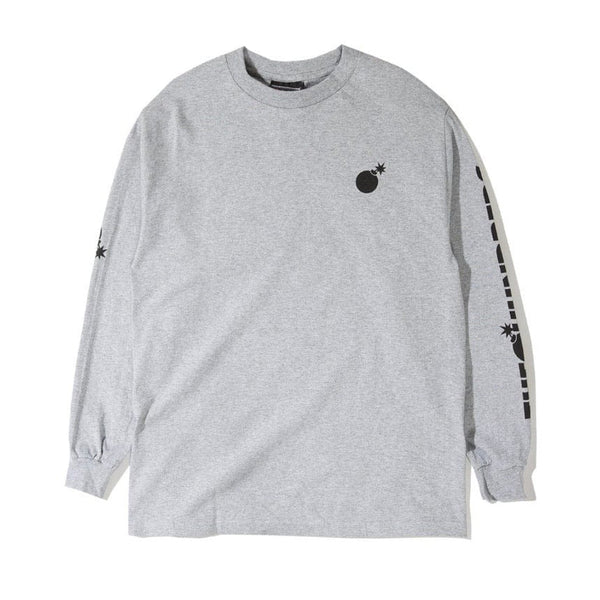 The Hundreds Solid Bomb Crest LS T Shirt (Athletic Heather)