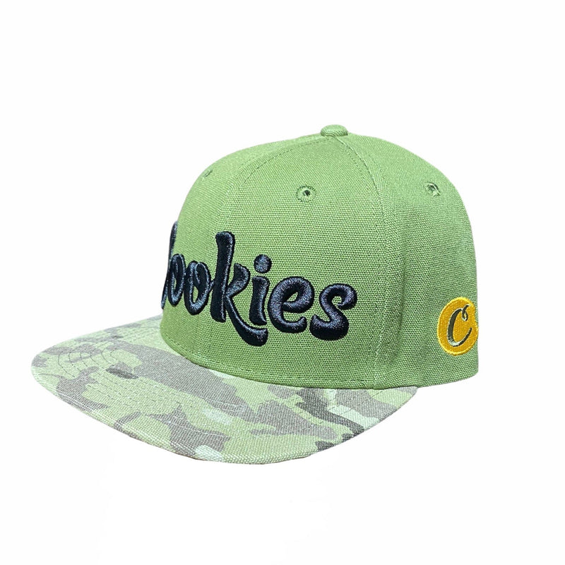 Cookies Backcountry Twill Logo Snapback (Olive)