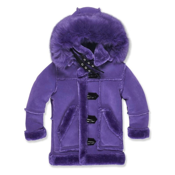 Kids Jordan Craig Denali Shearling Jacket (Purple) 91445K