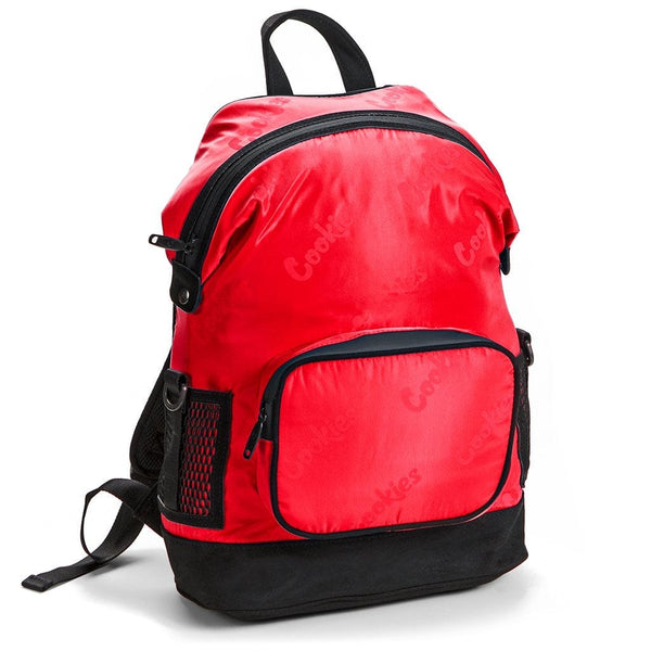Cookies Satin Backpack Repeated Logo Red
