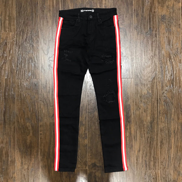 Crysp Jeans Black Distressed