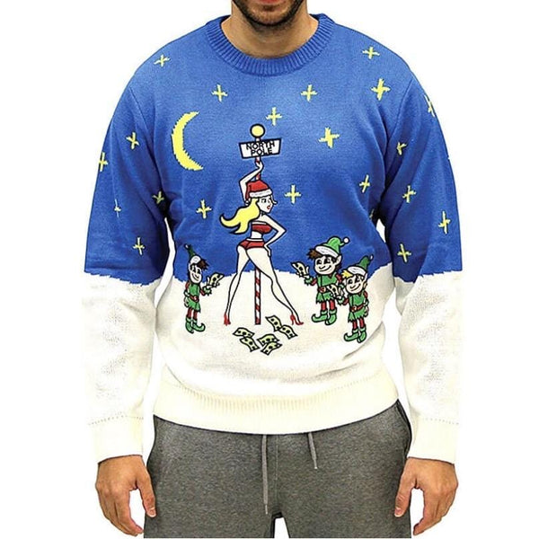Christmas Sweater North Pole Blue