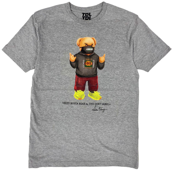 Dirt Label Yeezy Busta Bear Bear T Shirt Grey