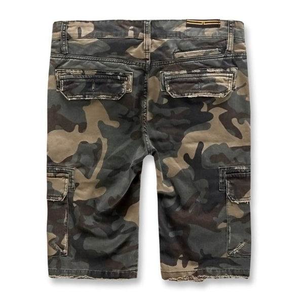 Jordan Craig War Torn Cargo Shorts (Woodland)