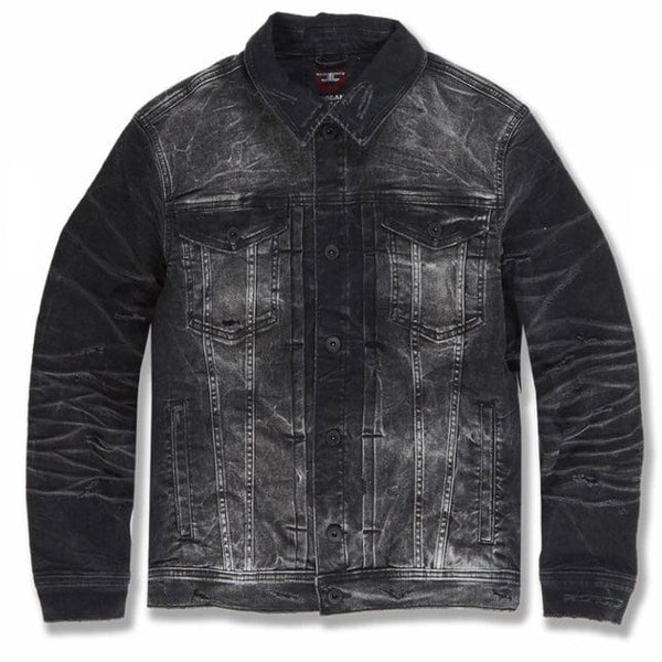 Jordan Craig Soho Denim Trucker Jacket (Industrial Black) 91512A