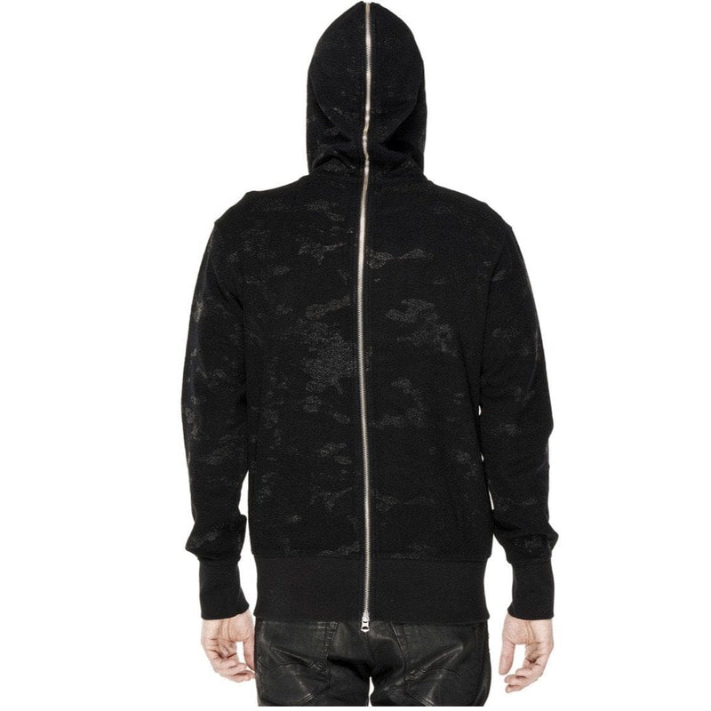 CULT OF INDIVIDUALITY SPLIT ZIP HOODY  BLACK CAMO