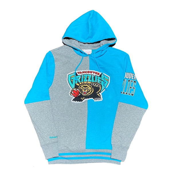 Mitchell & Ness Vancouver Grizzlies Split Color Hoodie (Teal/Grey)