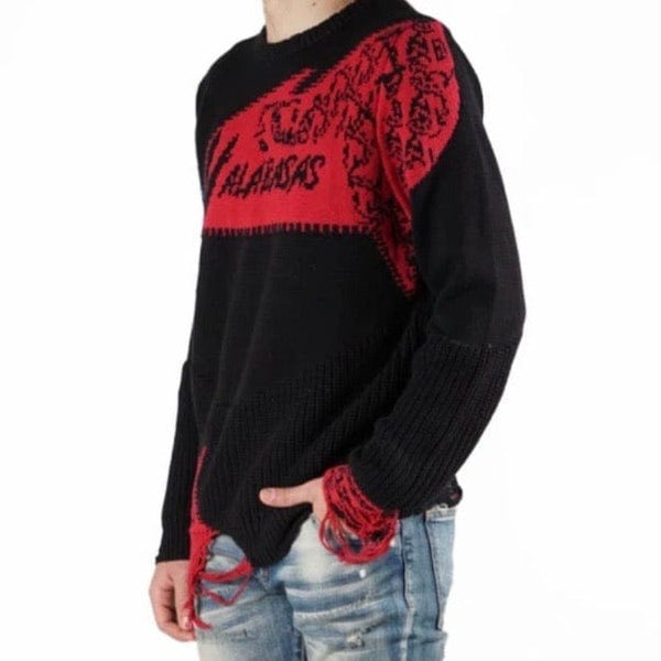 Valabasas Komodo Sweater (Red/Royal) VLBS2037