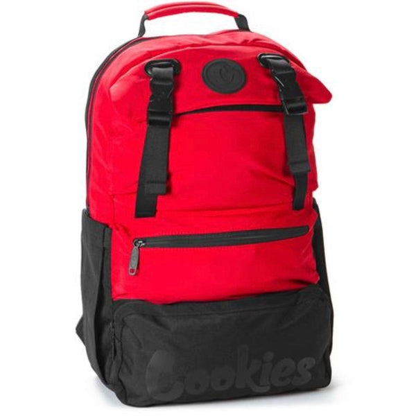 Cookies Parks Utility Sateen Bomber Nylon Backpack (Red)
