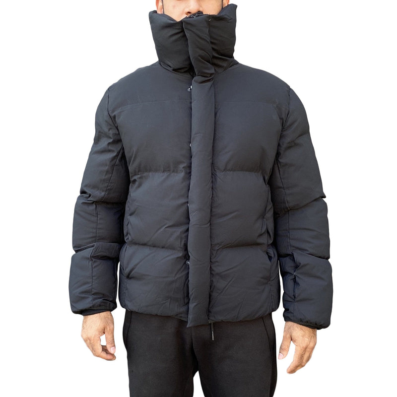 Jordan Craig High Collar Puffer Coat (Black)