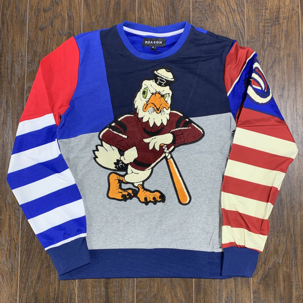 REASON CREWNECK ROSE EAGLE BLUE