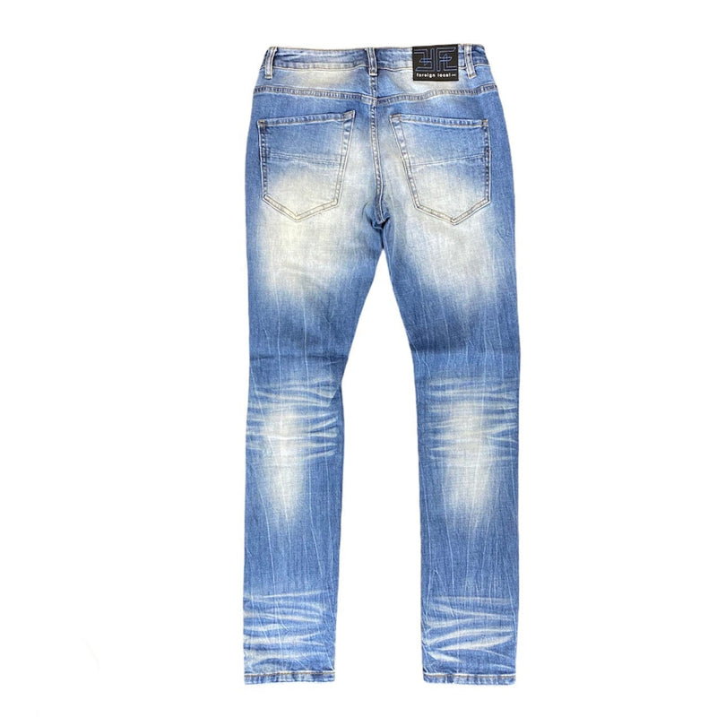 Foreign Local Rip and Repair Jeans (Blue) FL-190926P