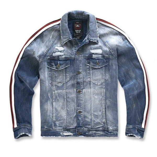 Jordan Craig Jean Jacket Grand Prix Striped Red