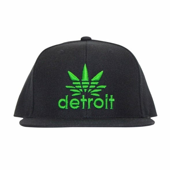 Ink Detroit Cannabis Snap Back Hat (Black/Green)