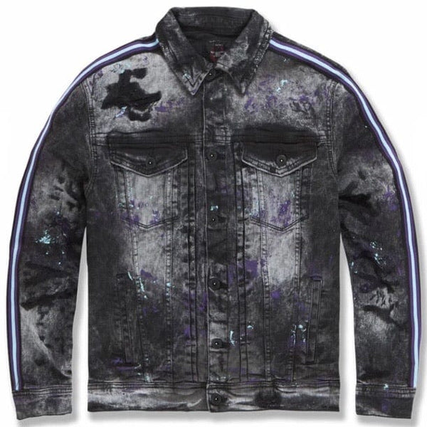Jordan Craig Sparta Striped Denim Jacket (Dark Raven) 91526