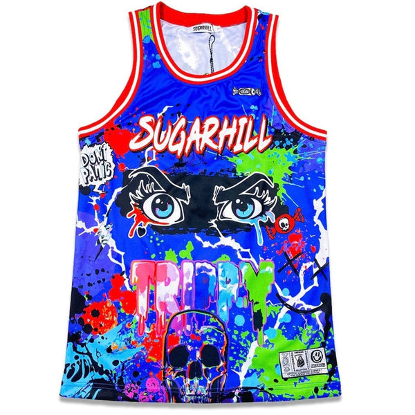 Sugarhill Trippy Basketball Jersey (Blue) SH-CAB-RS-03