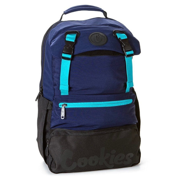 Cookies Parks Utility Sateen Bomber Nylon Backpack (Blue)
