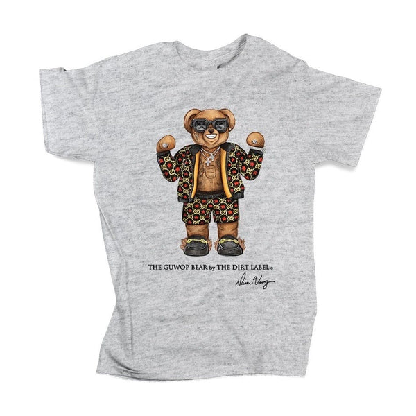 Dirt Label Guwop Bear T Shirt (Grey)