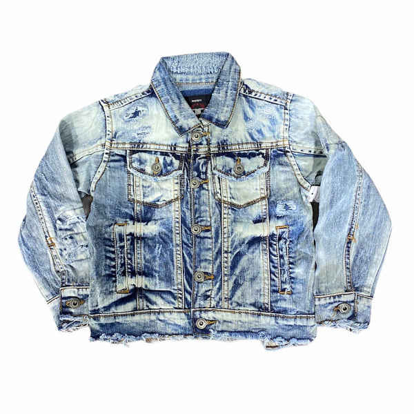Kids Jordan Craig Denim Jacket (Aged Wash) 91338K