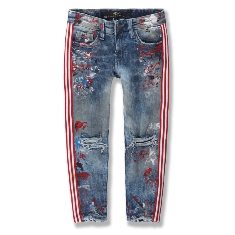 Kids Jordan Craig Talladega Striped Denim (South Beach)