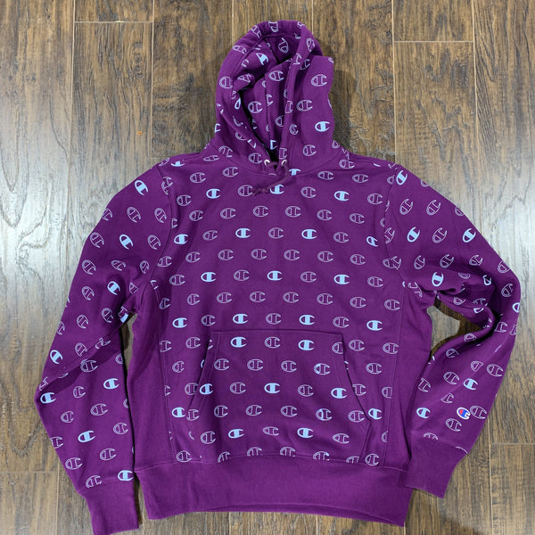 CHAMPION HOODIE C LOGO SPACE PURPLE