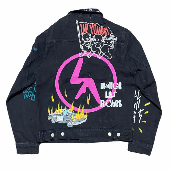 Lifted Anchors City Hall Denim Jacket (Black)