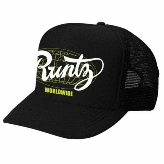 Runtz Solid Worldwide Trucker Hat (Black)