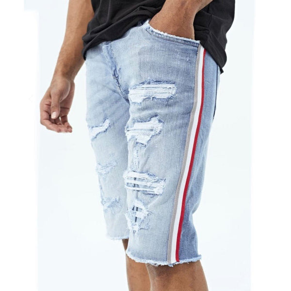 Jordan Craig  Daytona Striped Denim Short (Ice Blue)