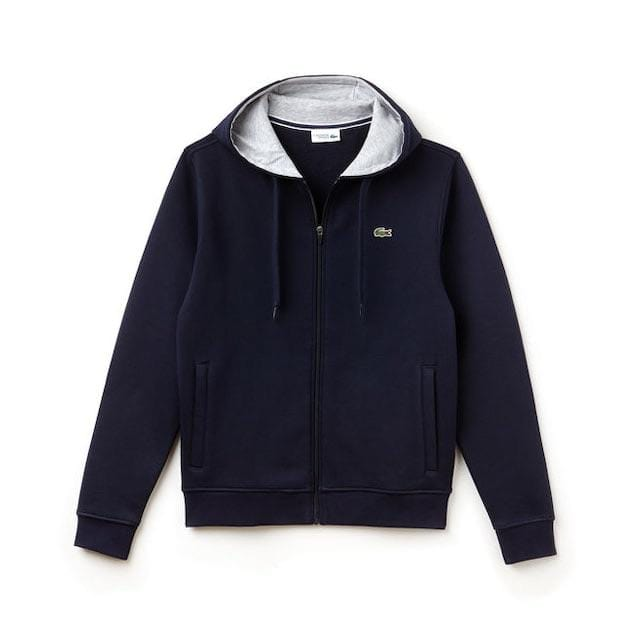 LACOSTE HOODIE NAVY BLUE/SLIVER