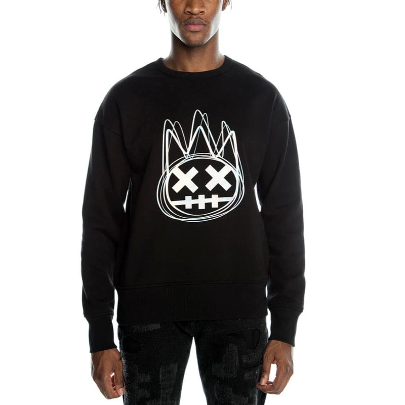 Cult of Individuality Metallic Logo Crew Neck (Black)