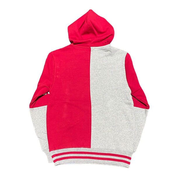 Mitchell & Ness Chicago Bulls Split Color Hoodie (Red/Grey)