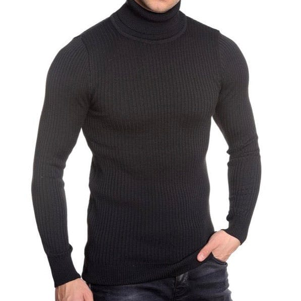 LCR Black Edition Turtleneck Sweater (Black) 1670C