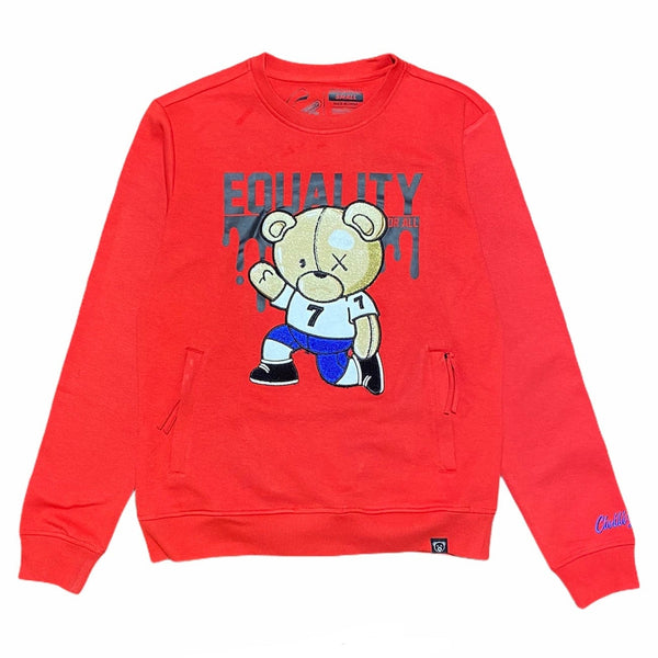 Civilized Kaepernick Bear Crewneck (Red)