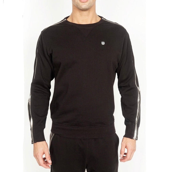 Cult Of individuality Zipper Sleeve Crew Neck (Black)