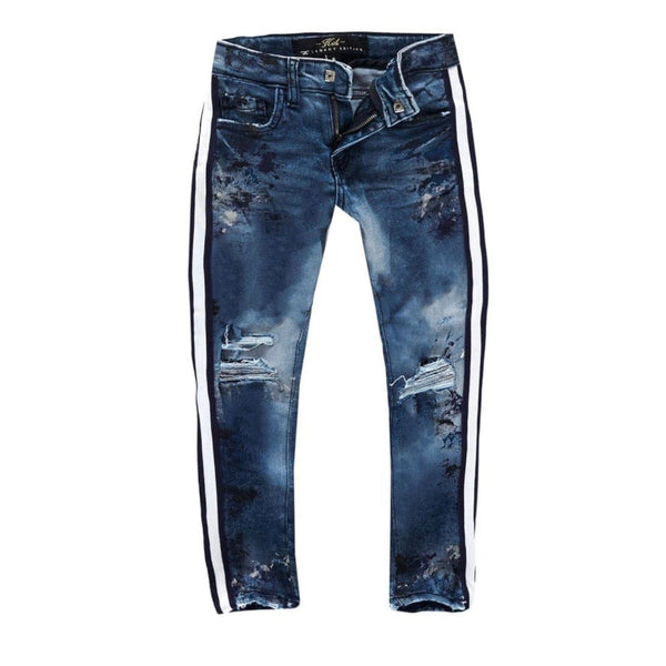 Kids Jordan Craig Talladega Striped Denim Jeans (River Blue) JM3403K