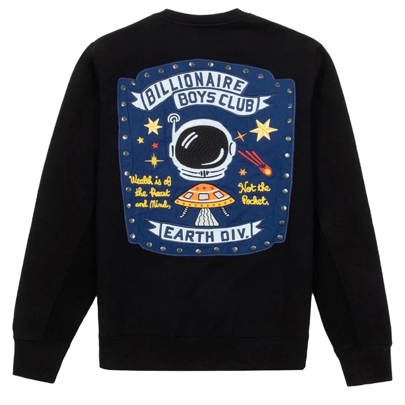 Billionaire Boys Club BB Earth Div Crewneck (Black) 811-1312