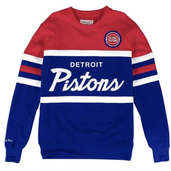 MITCHELL & NESS SWEATSHIRT HEAD COACH PISTIONS RED