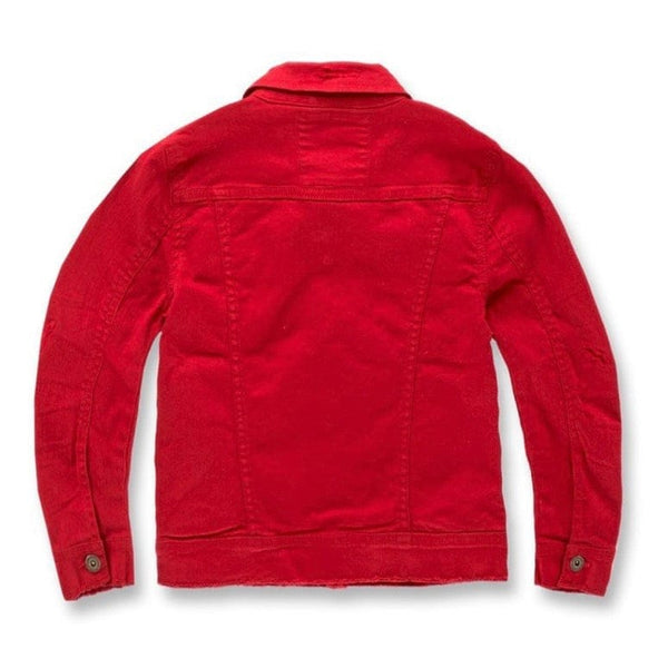 Boys Jordan Craig Tribeca Twill Jacket (Red) JJ900RB
