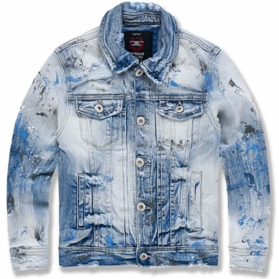 Kids Jordan Craig Avalanche Denim Trucker Jacket (Glacier) 91510AB
