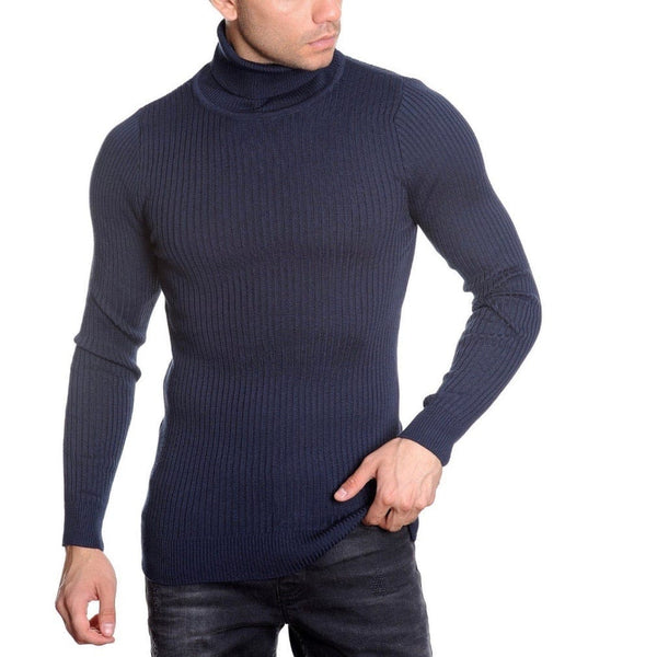 LCR Black Edition Turtleneck Sweater (Navy) 1670C